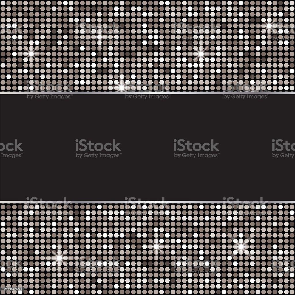 Silver glitter vector background vector art illustration