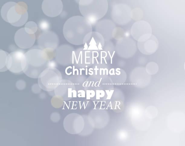 Feliz Navidad y feliz año nuevo tarjeta de plata - ilustración de arte vectorial
