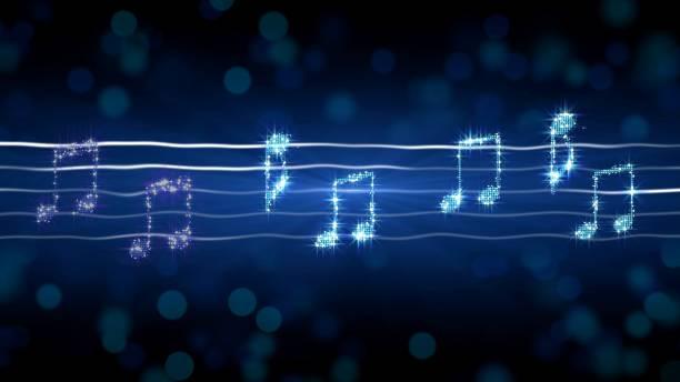Silver notes on sheet music, moonlight sonata illustration, karaoke background Silver notes on sheet music, moonlight sonata illustration, karaoke background, stock footage lyric stock illustrations
