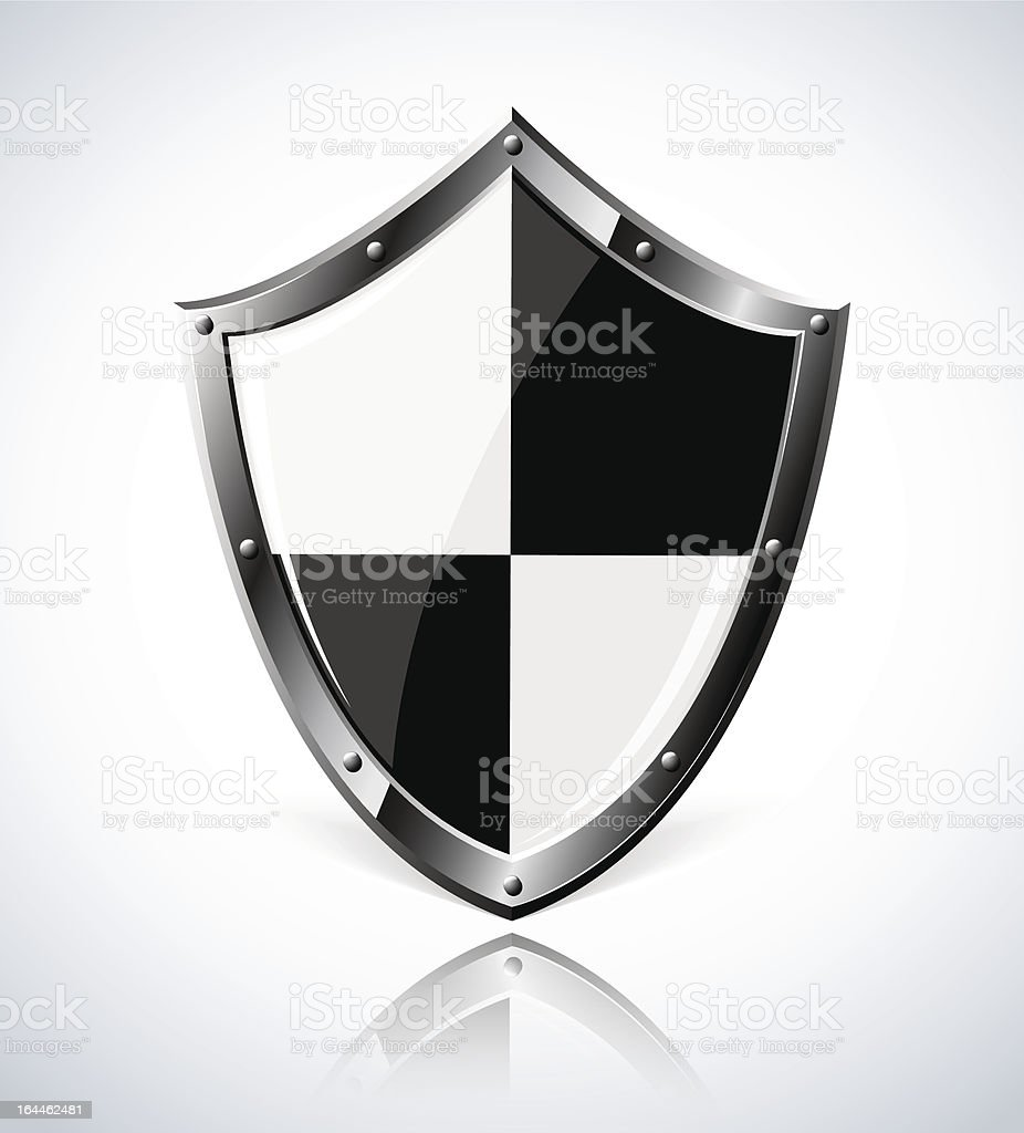 Silver shield with reflection royalty-free silver shield with reflection stock vector art & more images of award