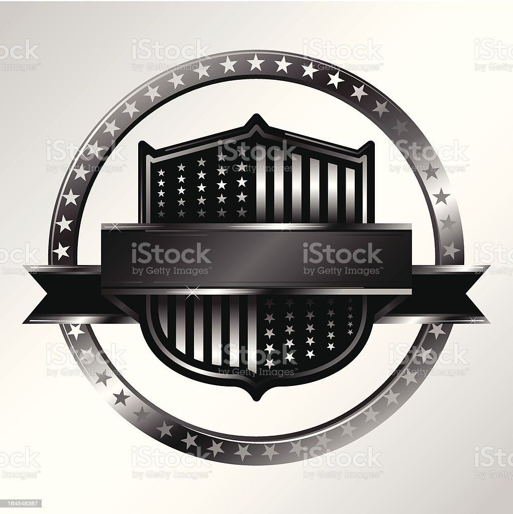 Silver US Crest royalty-free stock vector art