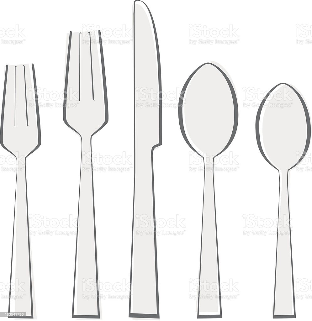 Silverware Place Setting royalty-free silverware place setting stock vector art & more images of color image