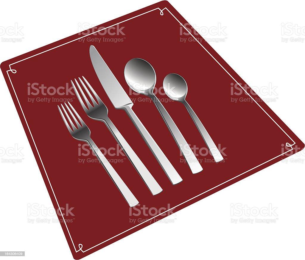 Silverware set. royalty-free stock vector art