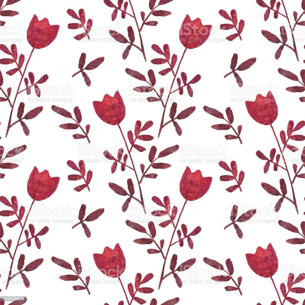 Simlpe floral pattern векторная иллюстрация