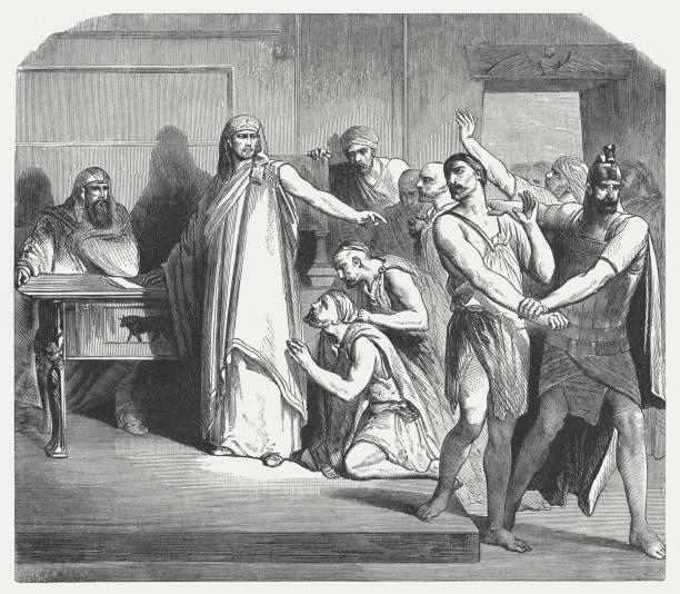 西蒙是由約瑟夫 (創世記 42,24),出版 1886年捕獲 - simon cowell 幅插畫檔、美工圖案、卡通及圖標