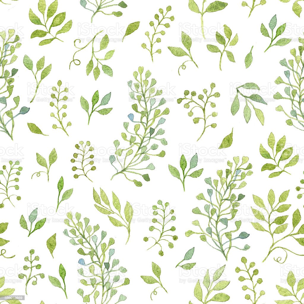Simple and cute floral seamless pattern vector art illustration