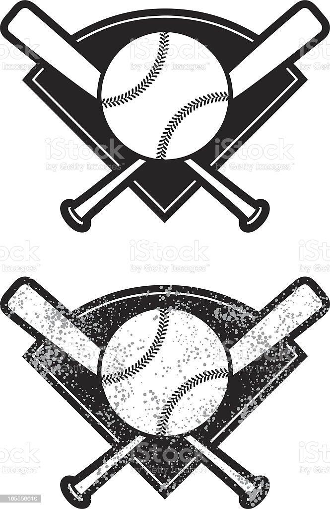 simple baseball vector art illustration