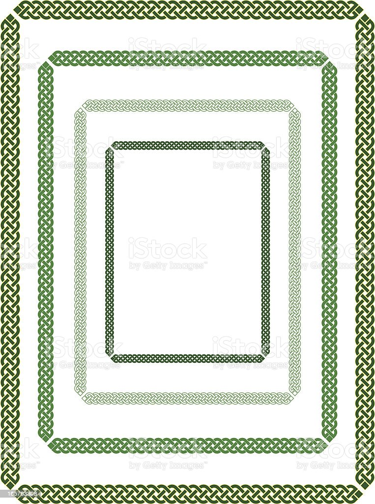 Simple Celtic border royalty-free stock vector art