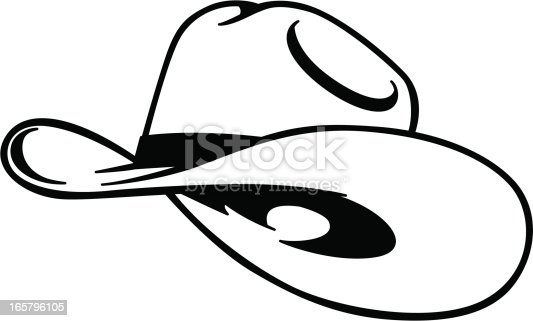 simple cowboy hat outline