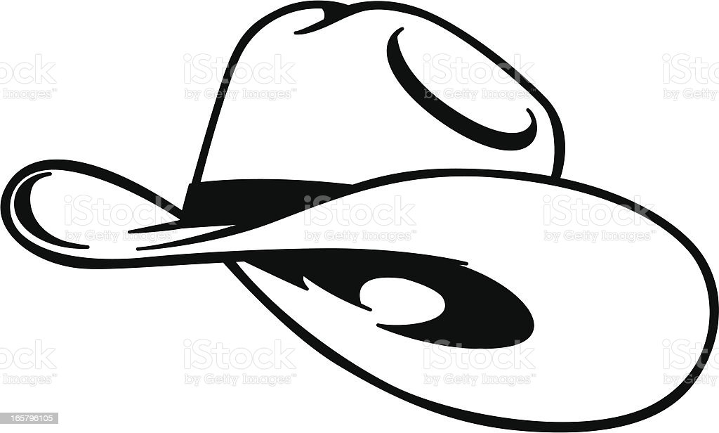 simple cowboy hat vector art illustration