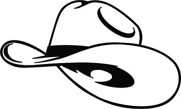 simple cowboy hat vector art illustration