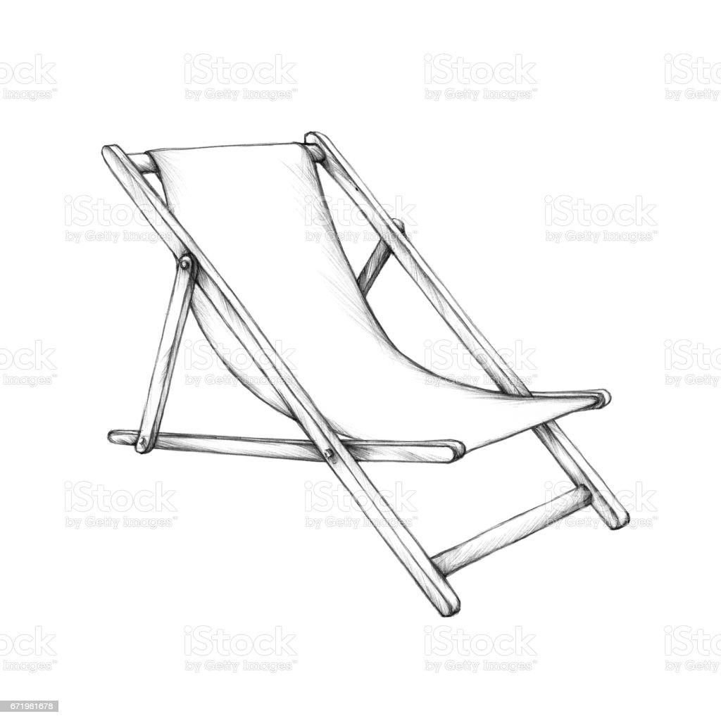 Simple deckchair – Vektorgrafik