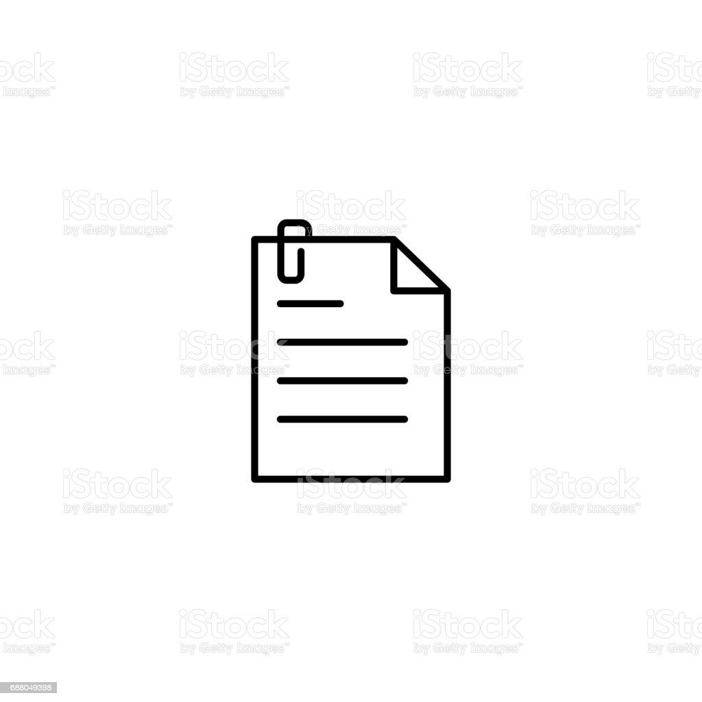クリップ アイコンでシンプル ドキュメント アイコンのベクターアート