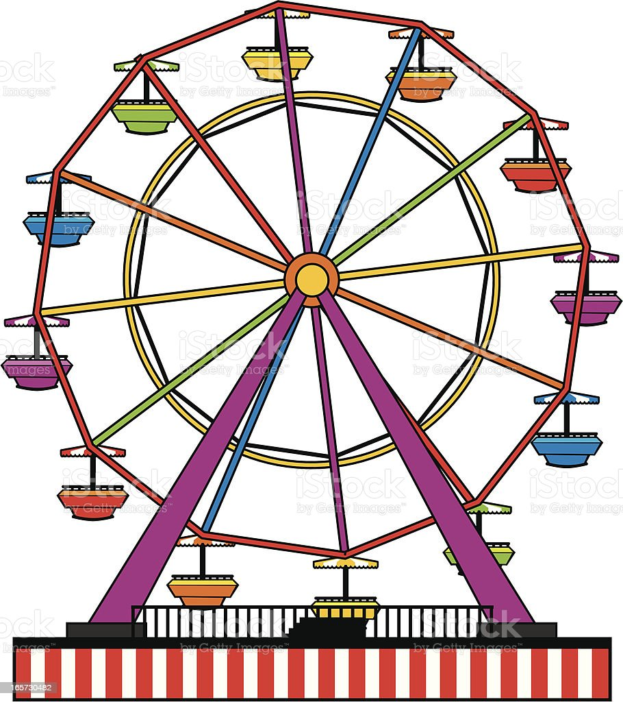 Simple Ferris Wheel Stock Vector Art & More Images of ...