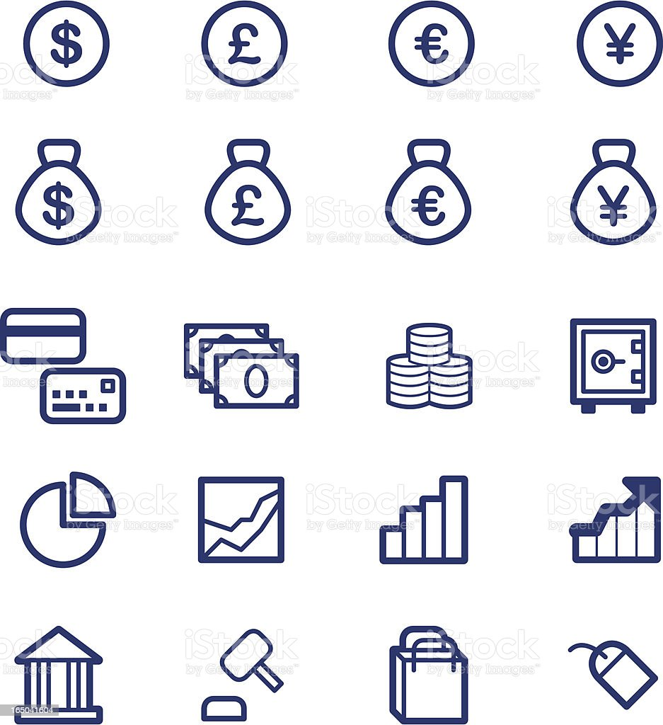 Simple Finance Icons ( vector ) royalty-free stock vector art