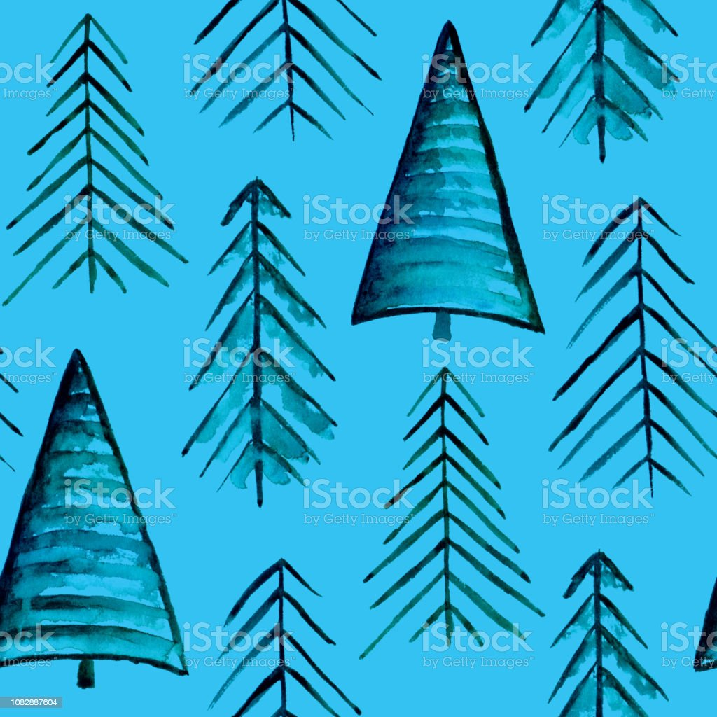 Tannenbaum Muster.Einfache Tannenbaummuster Stock Vektor Art Und Mehr Bilder Von