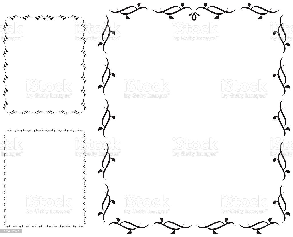Simple frames (vector) royalty-free simple frames stock vector art & more images of angle