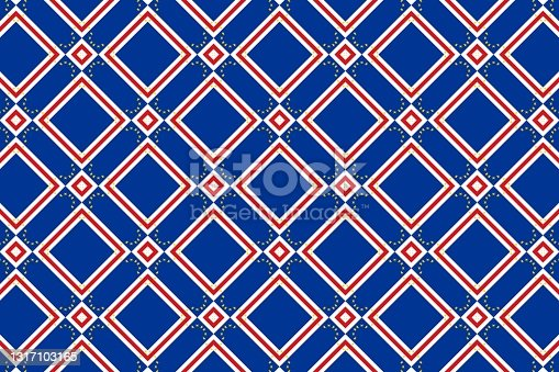 istock Simple geometric pattern in the colors of the national flag of Cape Verde 1317103165