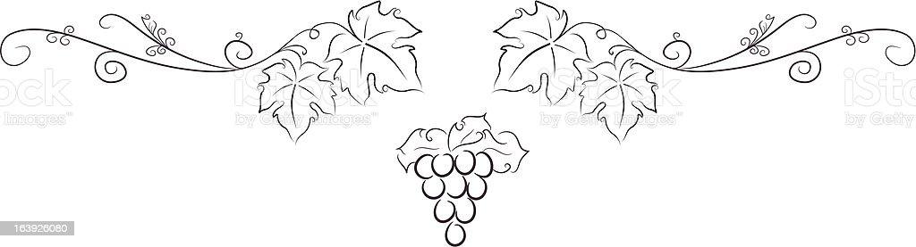 Simple Grape Vine Element Stock Vector Art & More Images ...