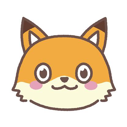 Simple illustration of a child fox waving