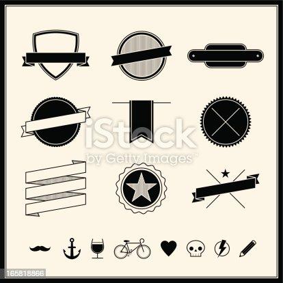 istock Simple Retro Design Elements 165818866