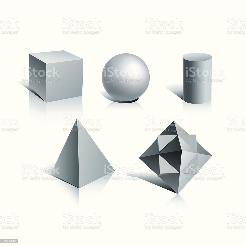 simple shapes royalty-free stock vector art