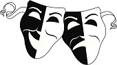vector illustration of Simple Theatre Masks