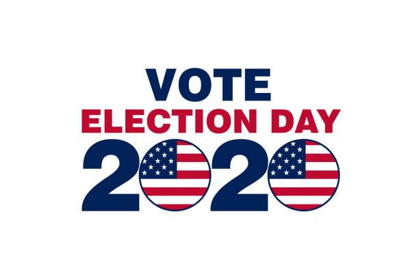 simple vote election day 2020 slide card illustration graphic vector art illustration