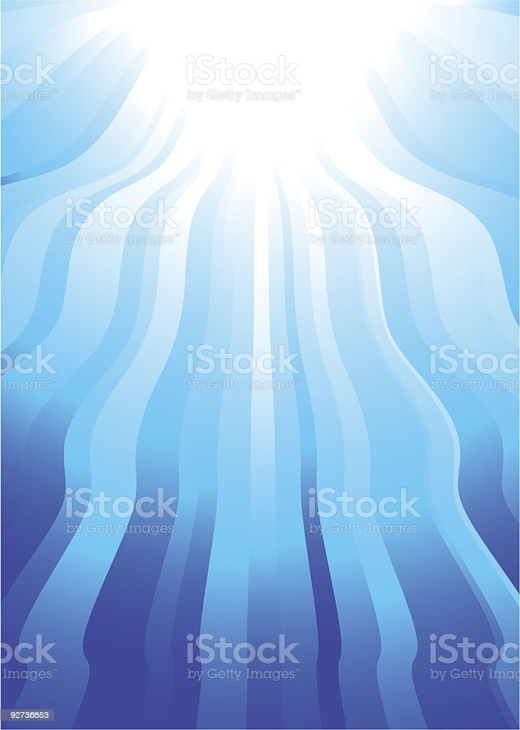 simple wave sunbeam royalty-free stock vector art