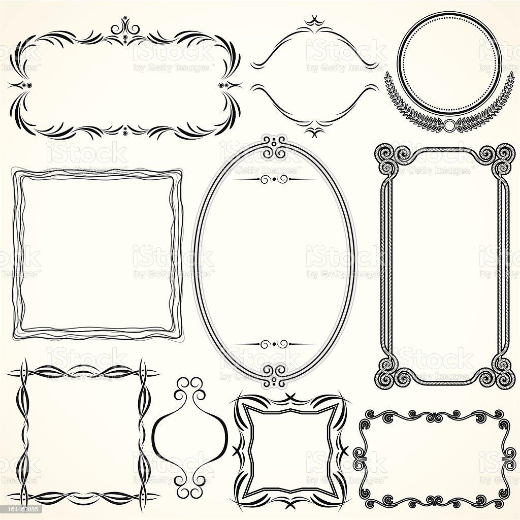 Simply Decorative Frames vector art illustration