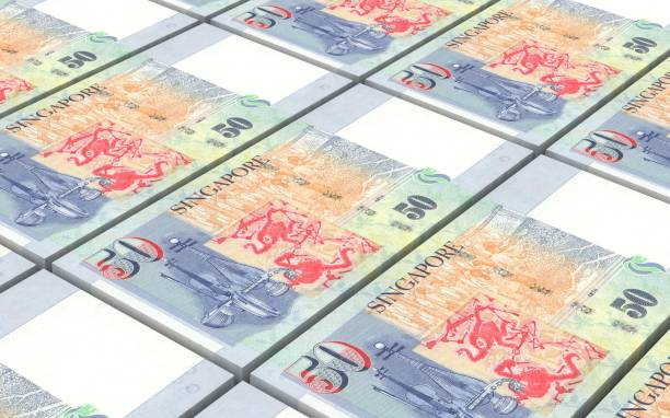Singapore Currency Illustrations, Royalty-Free Vector