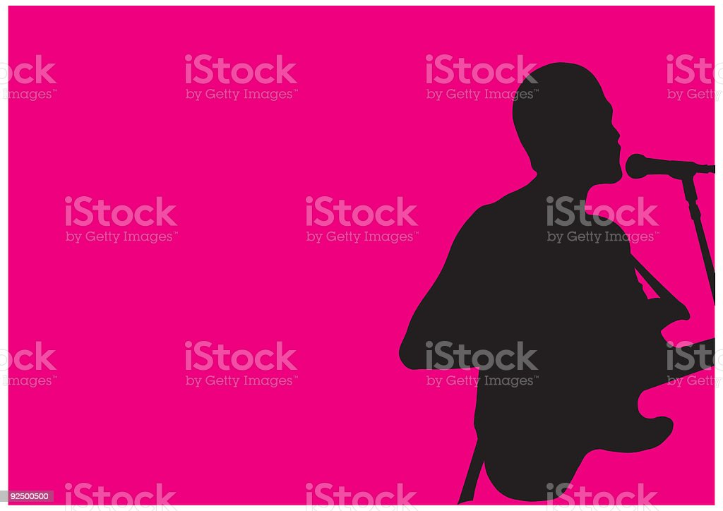 Singer/Songwriter royalty-free singersongwriter stock vector art & more images of acoustic guitar