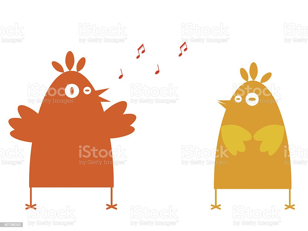 Singing for her. - Royalty-free Adult stock vector