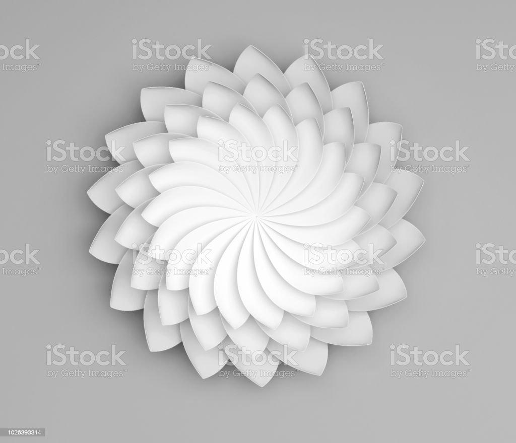 Single white decorative flower on grey background paper origami lily single white decorative flower on grey background paper origami lily royalty free single white izmirmasajfo