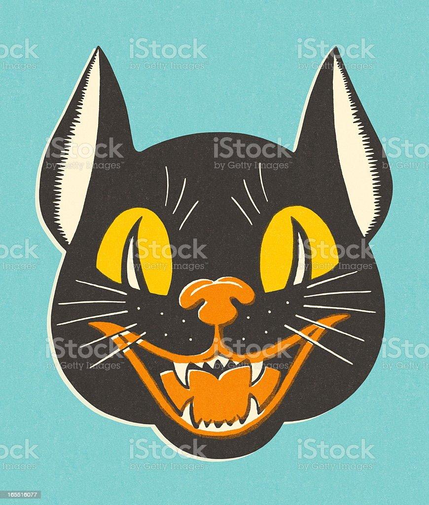 Sinister Cat royalty-free stock vector art