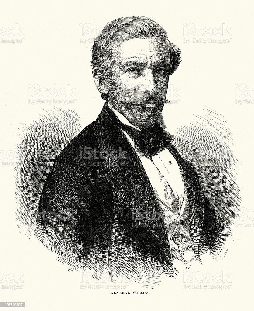 Sir Archdale Wilson vector art illustration