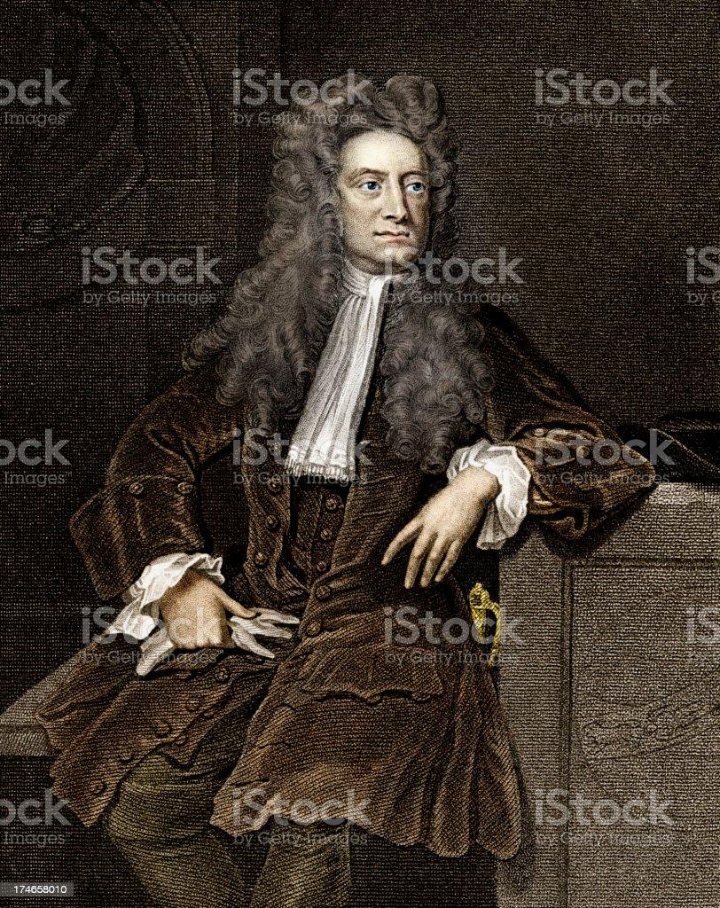 Sir Isaac Newton vector art illustration