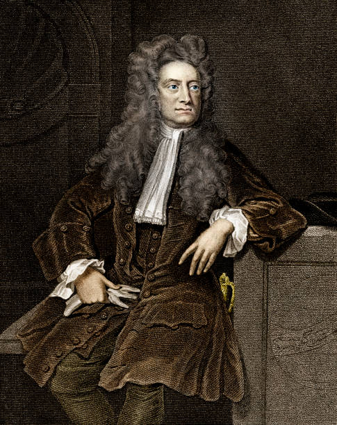 stockillustraties, clipart, cartoons en iconen met sir isaac newton - vroegmoderne tijd