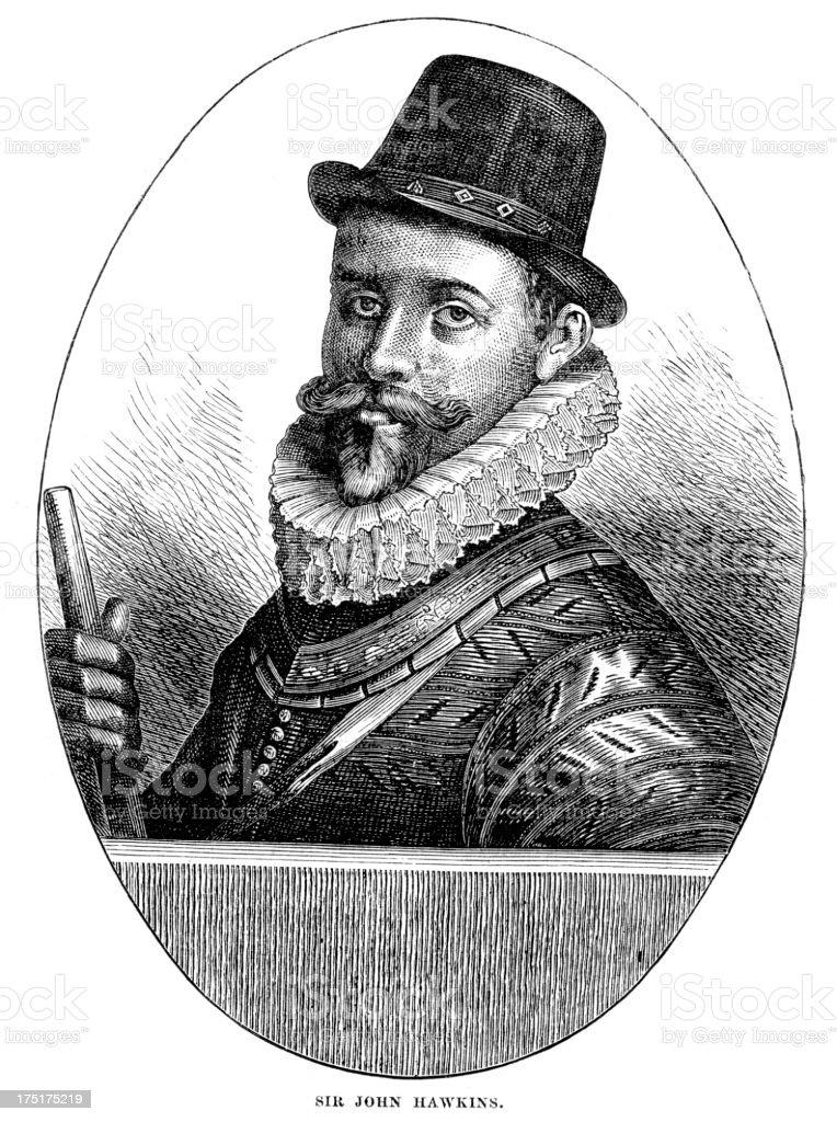 Sir John Hawkins vector art illustration