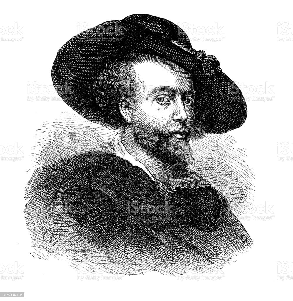 Sir Peter Paul Rubens vector art illustration