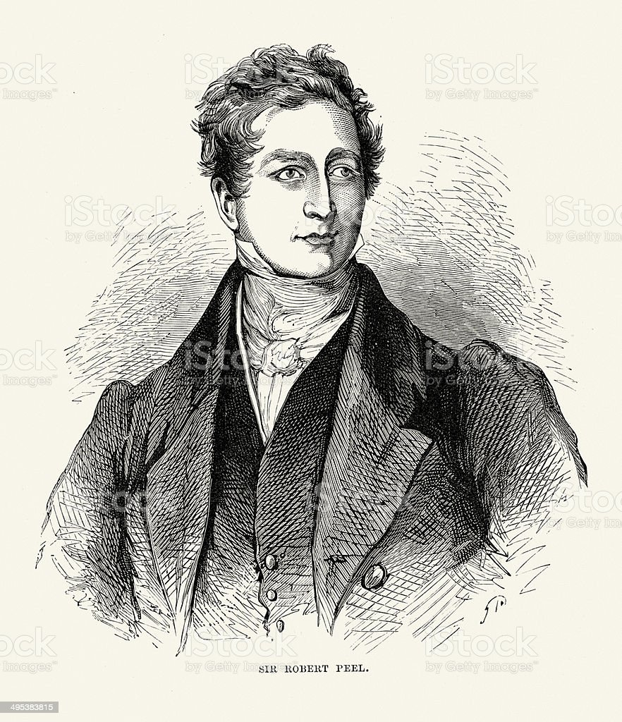role of sir robert peel in starting Robert peel was 62 when he died he had sat in the commons for more than 40 years and had held high office many times as home secretary in 1829 he had created the 'peelers' or 'bobbies', the country's first efficient police force he had served twice as prime minister, in 1834-35 and in 1841-46.