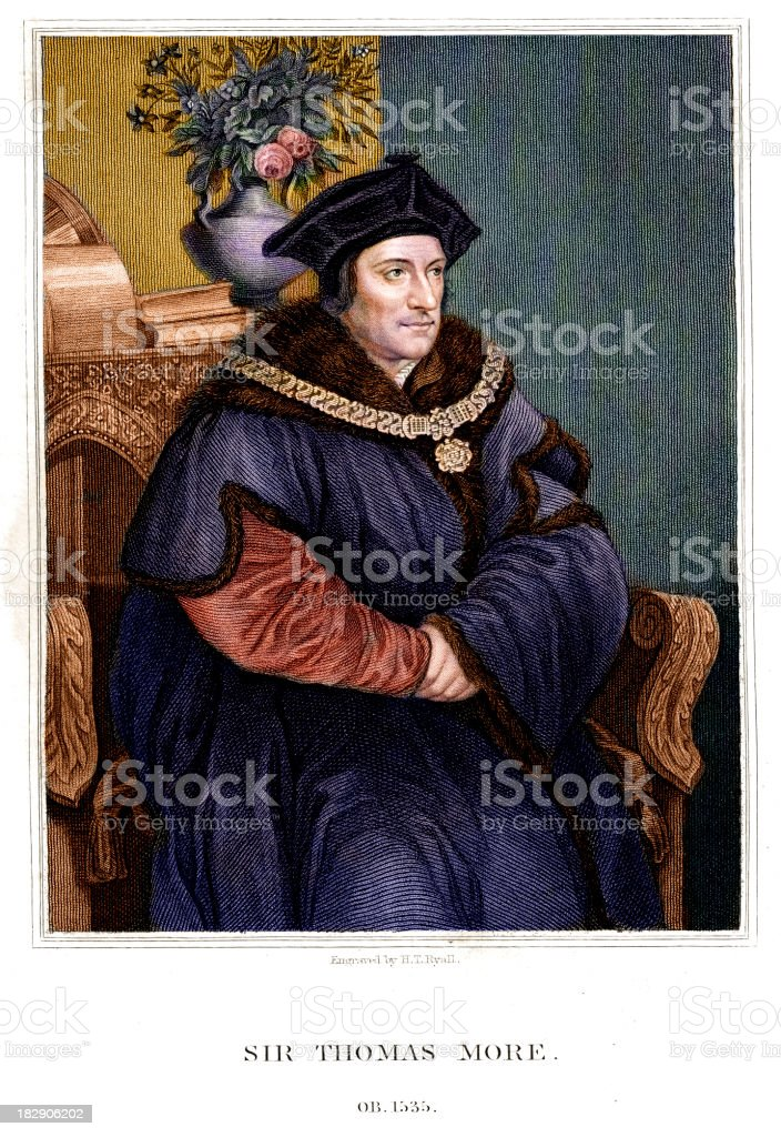 Sir Thomas More vector art illustration
