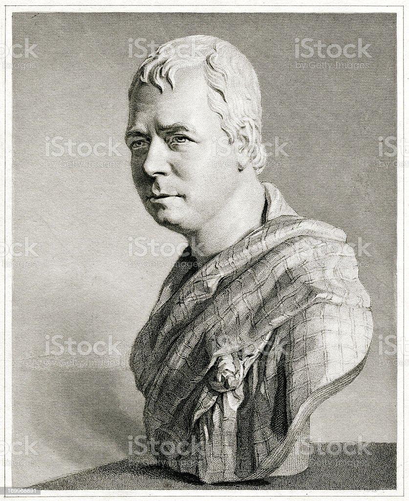 Sir Walter Scott royalty-free stock vector art