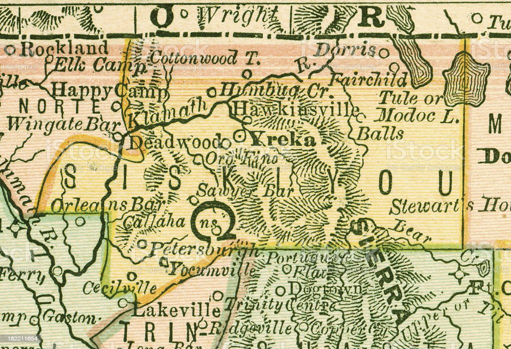 Siskiyou California County Maps Stock Vector Art 182211654 Istock