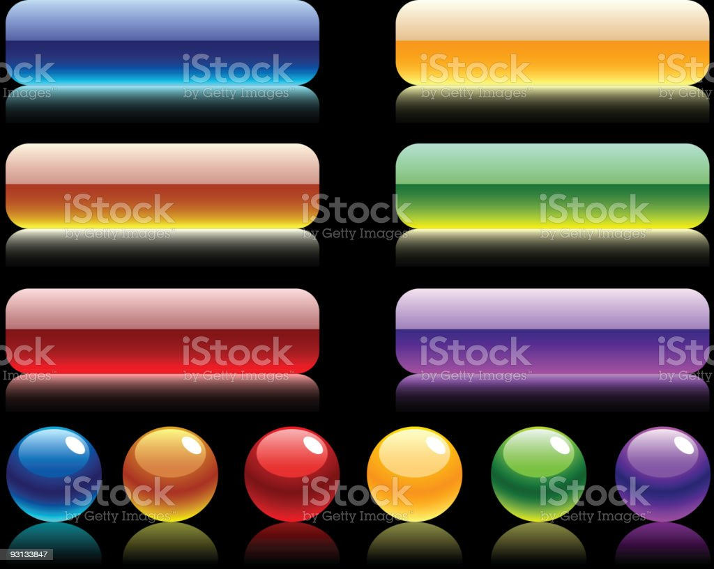 Site balls and buttons. royalty-free stock vector art