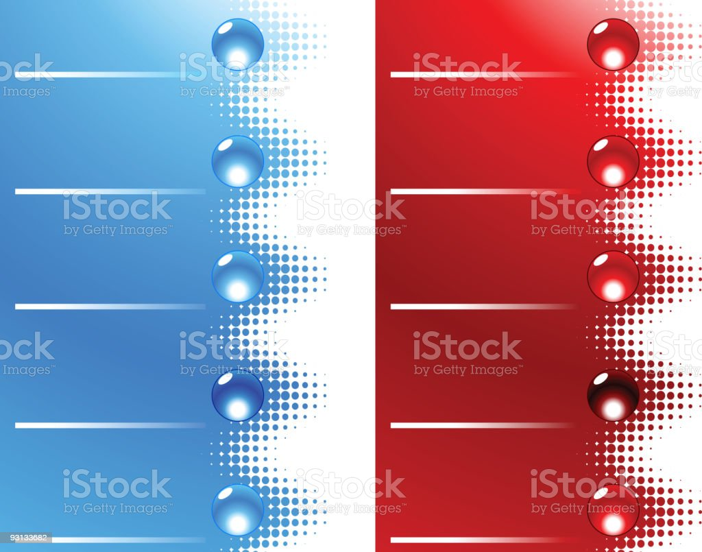 Site bars and buttons. royalty-free stock vector art