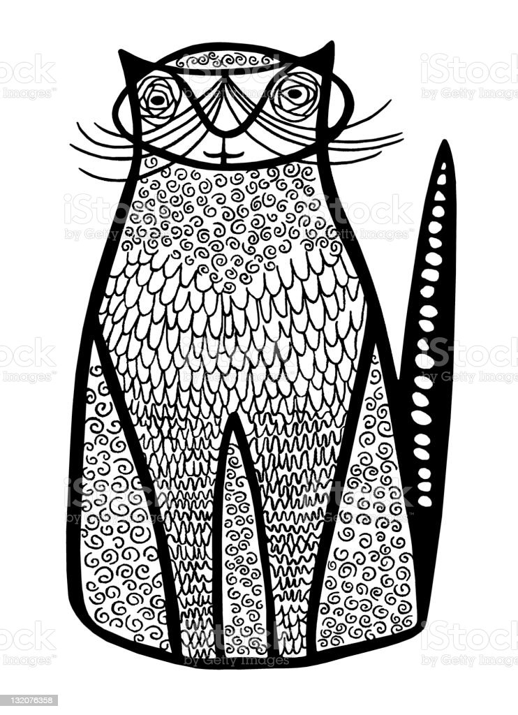Sitting Cat royalty-free stock vector art