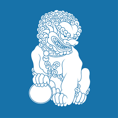 Sitting Chinese lion