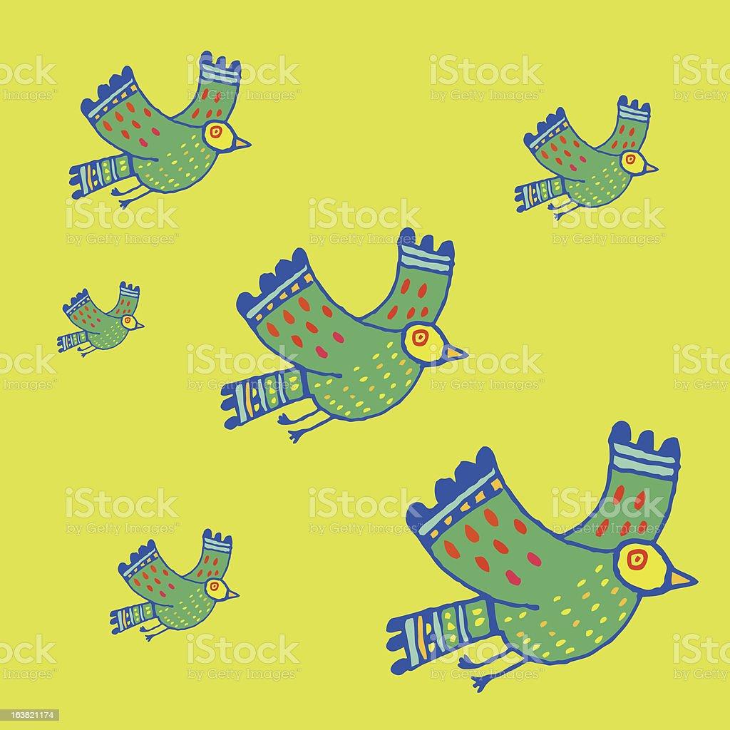 Six birds in flight royalty-free six birds in flight stock vector art & more images of animal