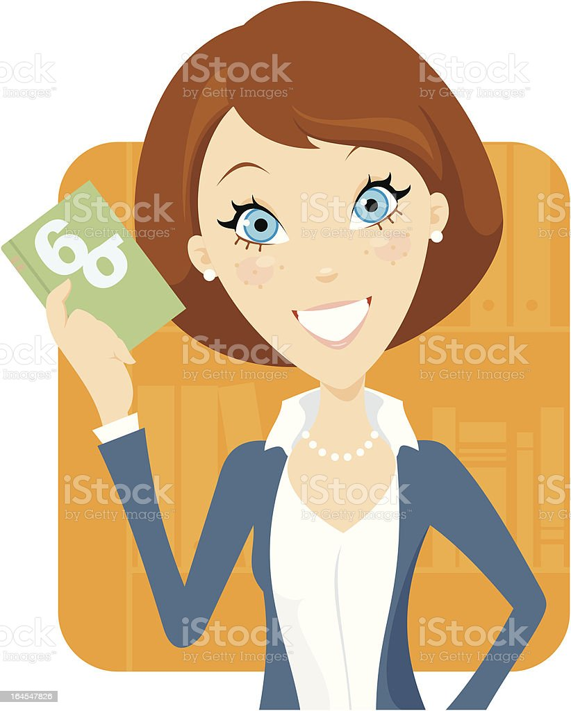 Six Sigma Certified (Female) royalty-free stock vector art